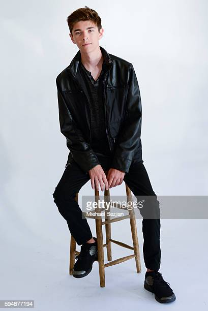 Mateo Simon poses for portrait at Portrait Day at The Starving Artists Project on August 24 2016 in Los Angeles California