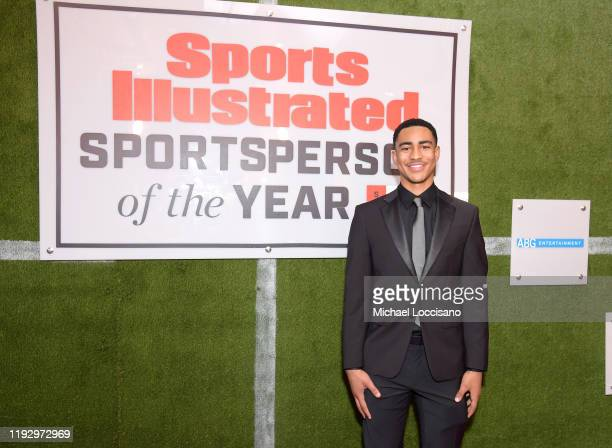 Mater Dei QB Bryce Young attends the 2019 Sports Illustrated Sportsperson Of The Year at The Ziegfeld Ballroom on December 09 2019 in New York City