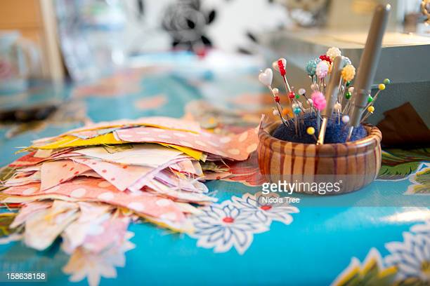 material by a sewing machine - sewing stock pictures, royalty-free photos & images
