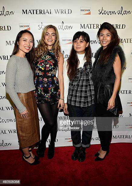Material Wrld Co-Founder, Jie Zheng, DJ Chelsea Leyland, Connie Wang, and Material Wrld Co-Founder Rie Yano attend the Material Wrld Fashion Trade-In...