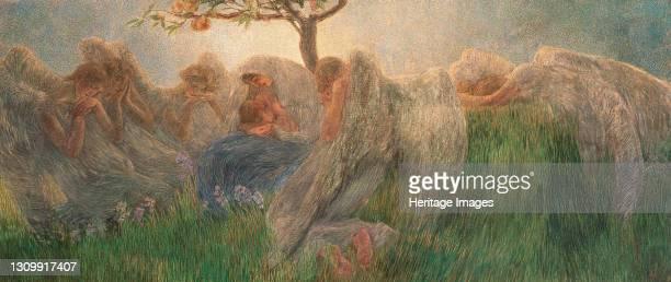 Maternity, 1890-1891. Found in the collection of Banca Popolare di Novara, Verona. Artist Previati, Gaetano . .