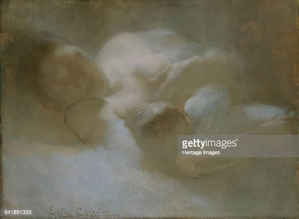 Maternity' c1880s Artist Eugene Carriere