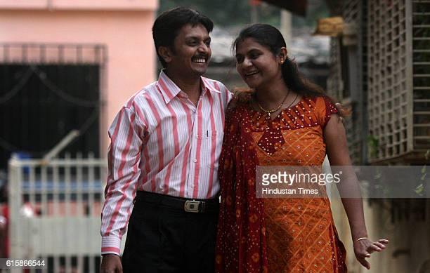 Maternity Pregnant Woman Infertile couples IVF Vaishali Shah with her husband Manish at their residence in Andheri