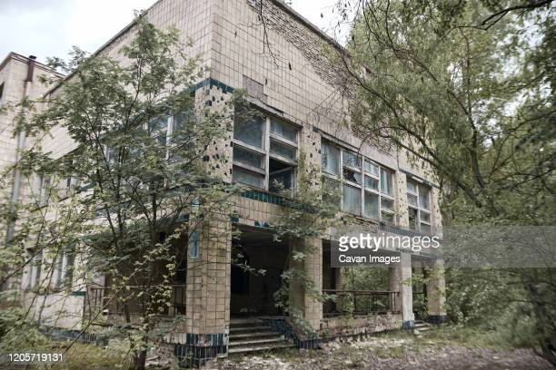 maternity ward in no. 126 hospital in pripyat ghost town, chernobyl, ukraine - chernobyl nuclear power plant stock pictures, royalty-free photos & images