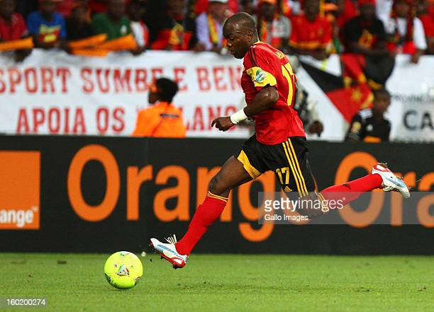 AFRICA JANUARY 27 Mateus Galiano da Costa of Angola during the 2013 Orange African Cup of Nations match between Cape Verde Islands and Angola from...