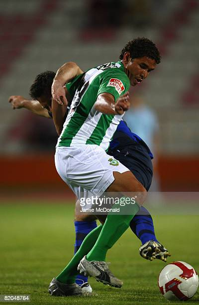 Mateus of Victoria in action during the pre-season friendly match between Victoria and Sunderland at the Estadio Municipal de Albufeira on July 23,...