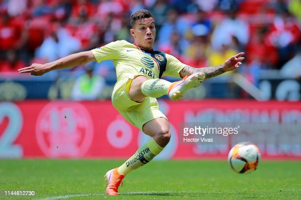 Mateus Uribe of America drives the ball during the 15th round match between Toluca and America as part of the Torneo Clausura 2019 Liga MX at Nemesio...