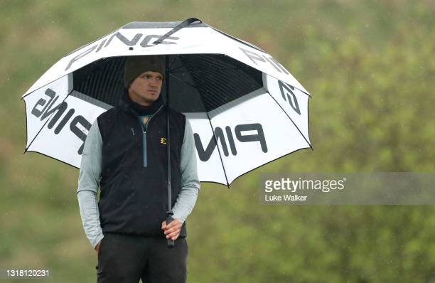 Mateusz Gradecki of Poland on the 3rd tee box during Day Three of the Range Servant Challenge by Hinton Golf at Hinton Golf Club on May 15, 2021 in...