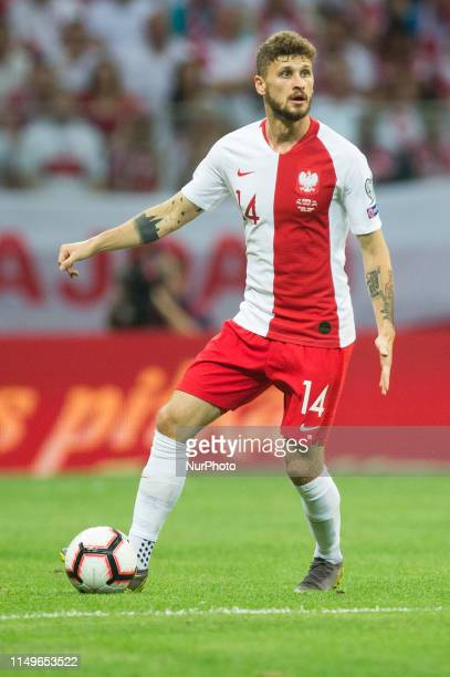 Mateusz Klich during the UEFA Euro 2020 qualifier Group G football match Poland against Israel on June 10 2019 in Warsaw