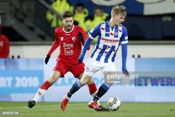 Mateusz Klich of FC Utrecht Martin Odegaard of sc Heerenveen during the Dutch Eredivisie match between sc Heerenveen and Willem II Rotterdam at Abe...