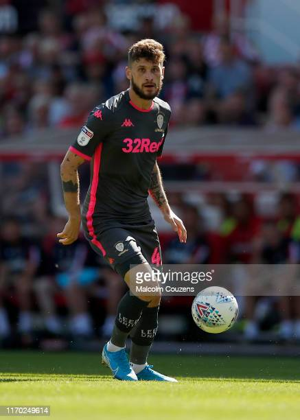 Mateusz Klich of Leeds United during the Sky Bet Championship match between Stoke City and Leeds United at Bet365 Stadium on August 24 2019 in Stoke...