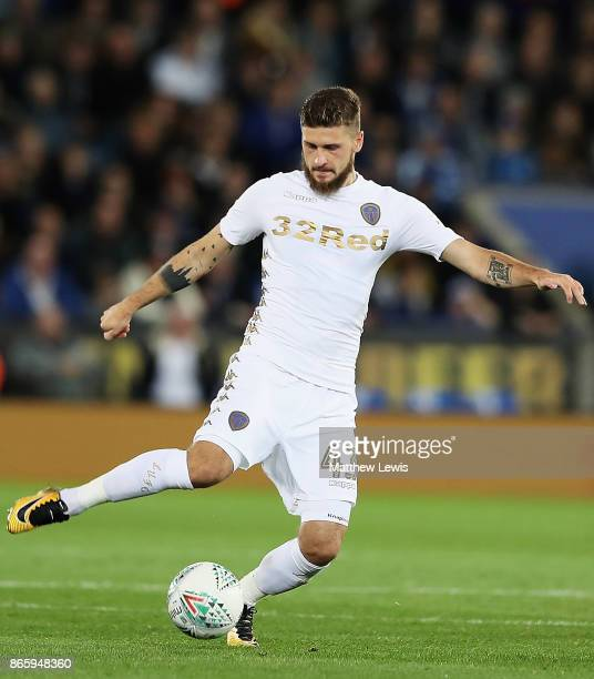 Mateusz Klich of Leeds United in action during the Carabao Cup Fourth Round match between Leicester City and Leeds United at The King Power Stadium...