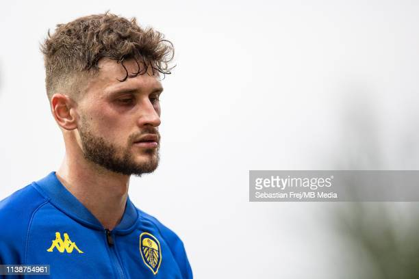 Mateusz Klich of Leeds United reaction during the Sky Bet Championship match between Brentford and Leeds United at Griffin Park on April 22 2019 in...