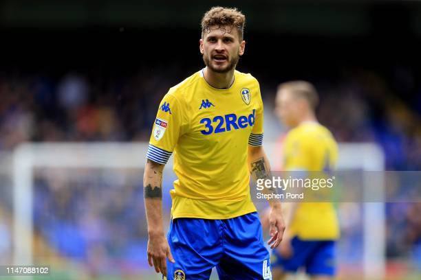 Mateusz Klich of Leeds United reacts during the Sky Bet Championship match between Ipswich Town and Leeds United at Portman Road on May 05 2019 in...