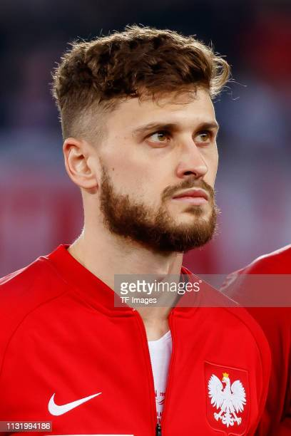 Mateusz Klich of Poland looks on prior to the 2020 UEFA European Championships group G qualifying match between Austria and Poland at Ernst Happel...