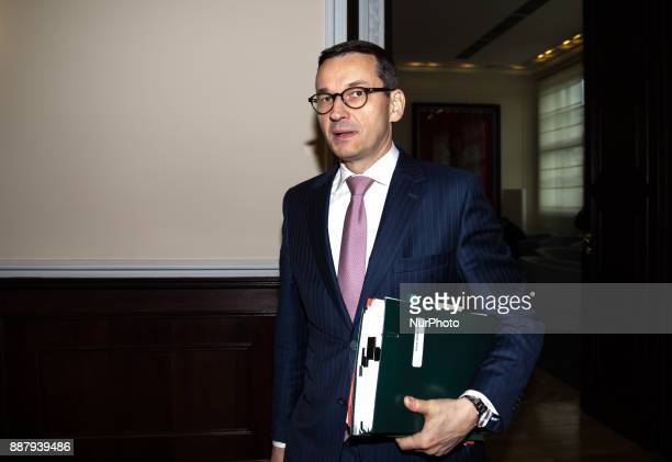 Mateusz Morawiecki Polish Minister of Economic Development and Minister of Finance in Warsaw Poland on 10 October 2017