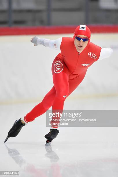 Mateusz Owczarek of Poland performs during the Men 1500 Meter at the ISU Neo Senior World Cup Speed Skating at Max Aicher Arena on November 26 2017...