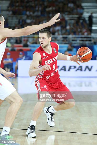 Mateusz Ponitka of Poland in action during the EuroBasket Group Phase game between Russia v Poland at Park and Suites Arena on September 6 2015 in...