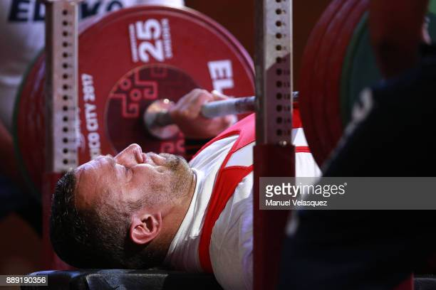 Mateusz Woroszyl of Poland competes on during the Men's Up to 97Kg Group A Category as part of the World Para Powerlifting Championship Mexico 2016...
