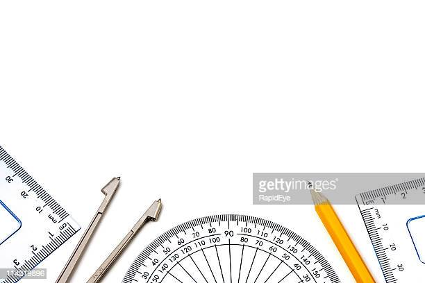 math border - drawing compass stock pictures, royalty-free photos & images