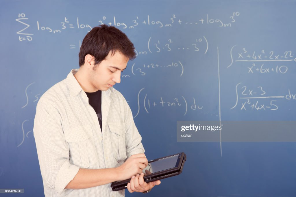 Math Student With Digital Tablet Pc Stock Photo   Getty Images