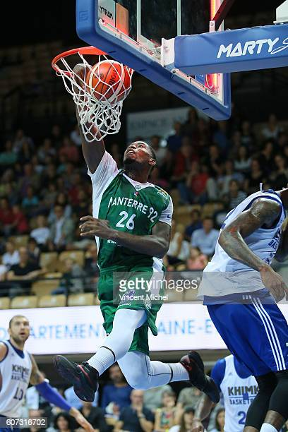 Mathais Lessort of Nanterre during the match for the 3rd and 4th place between Nanterre and Khimki Moscow at Tournament ProStars at Salle Arena Loire...