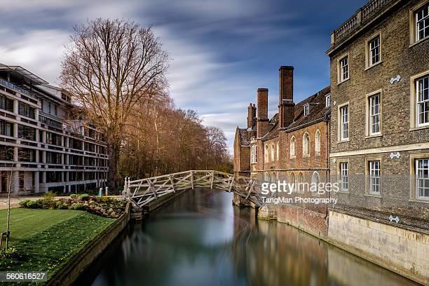 mathematical bridge, cambridge - punt kick stock pictures, royalty-free photos & images