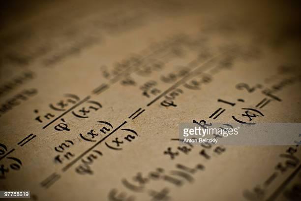 mathematical formulas - 数式 ストックフォトと画像