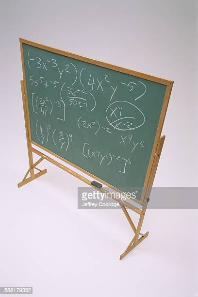 Mathematical Notation on a Chalkboard