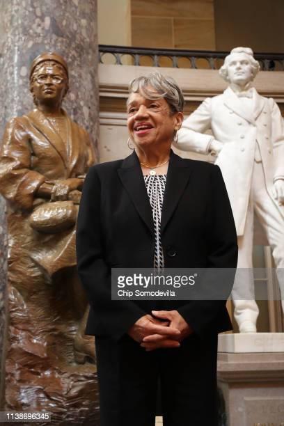 NASA mathematician and aeronautical engineer Dr Christine Darden attends an event honoring NASA's 'Hidden Figures' AfricanAmerican women...