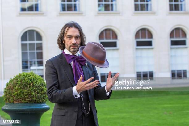 Mathematician and member of French parliament representing En Marche Cedric Villani Cedric Villain is photographed for Paris Match on November 14...