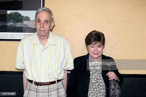 Mathematician and Nobel Prize winner John Nash and his wife Alicia Nash attend a screening of 'A Beautiful Mind' at the Alamo Drafthouse on September...