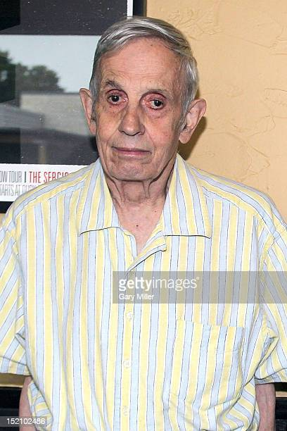 Mathematician and Nobel Prize winner John Nash speaks after a screening of 'A Beautiful Mind' at the Alamo Drafthouse on September 16 2012 in Austin...