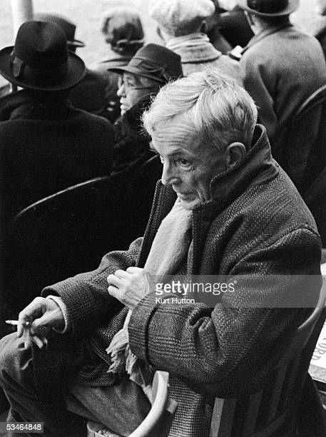 Mathematician and writer Professor Godfrey Hardy at an intervarsity rugby match between Oxford and Cambridge Universities held at Cambridge December...