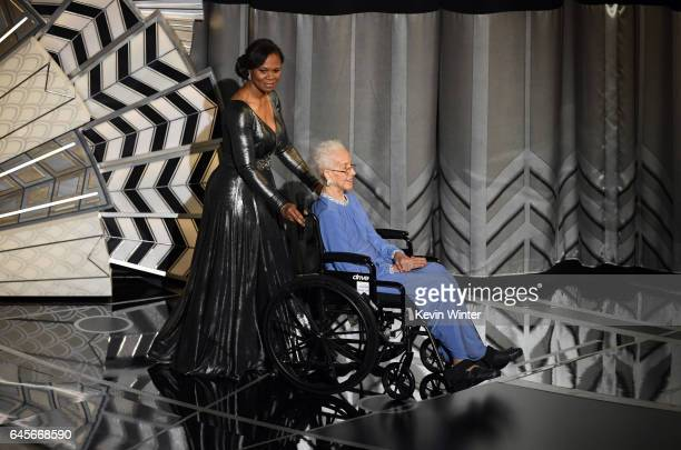 NASA mathematician Katherine Johnson appears onstage during the 89th Annual Academy Awards at Hollywood Highland Center on February 26 2017 in...