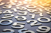Mathematics abstract background made with solid numbers