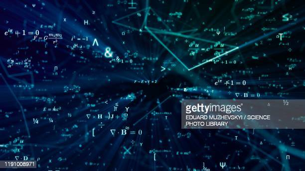mathematics, conceptual illustration - physics stock pictures, royalty-free photos & images
