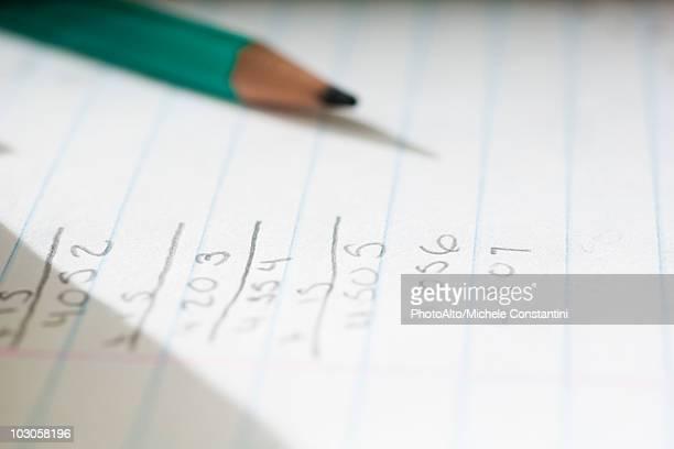 Mathematics homework