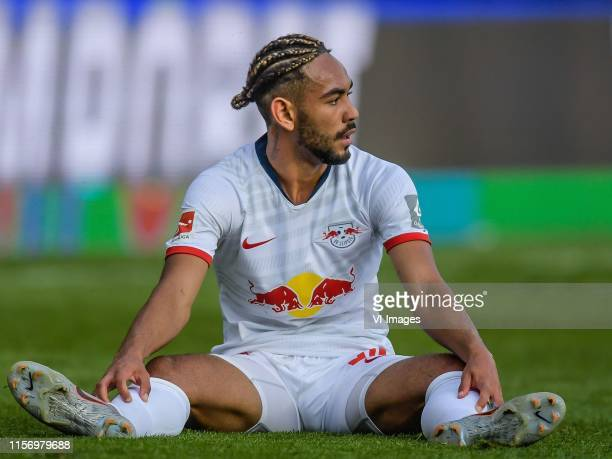 Matheus Cunha of Red Bull Leipzig during the Preseason Friendly match between Red Bull Leipzig v Galatasaray SK at Stadion Tivoli on July 19 2019 in...