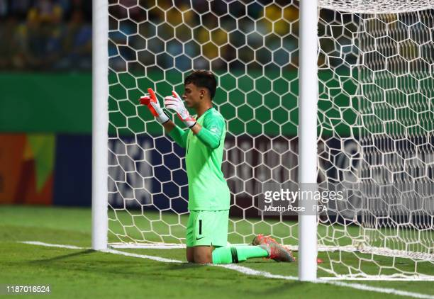 Matheus Donelli of Brazil during the FIFA U-17 World Cup Quarter Final match between Italy and Brazil at the Estádio Olímpico Goiania on November 11,...