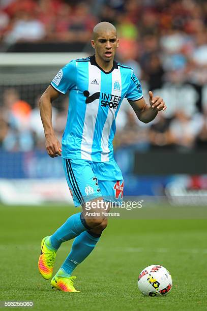 Matheus Doria Macedo of Marseille during the Ligue 1 match between EA Guingamp and Olympique de Marseille at Stade du Roudourou on August 21 2016 in...