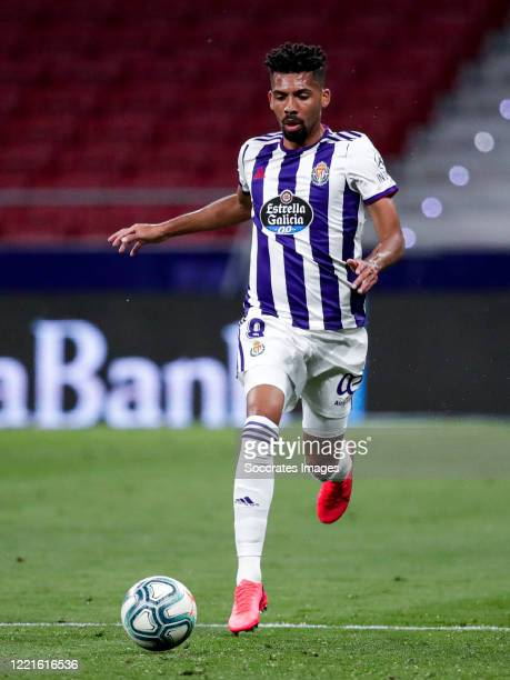 Matheus Fernandes of Real Valladolid during the La Liga Santander match between Atletico Madrid v Real Valladolid at the Estadio Wanda Metropolitano...
