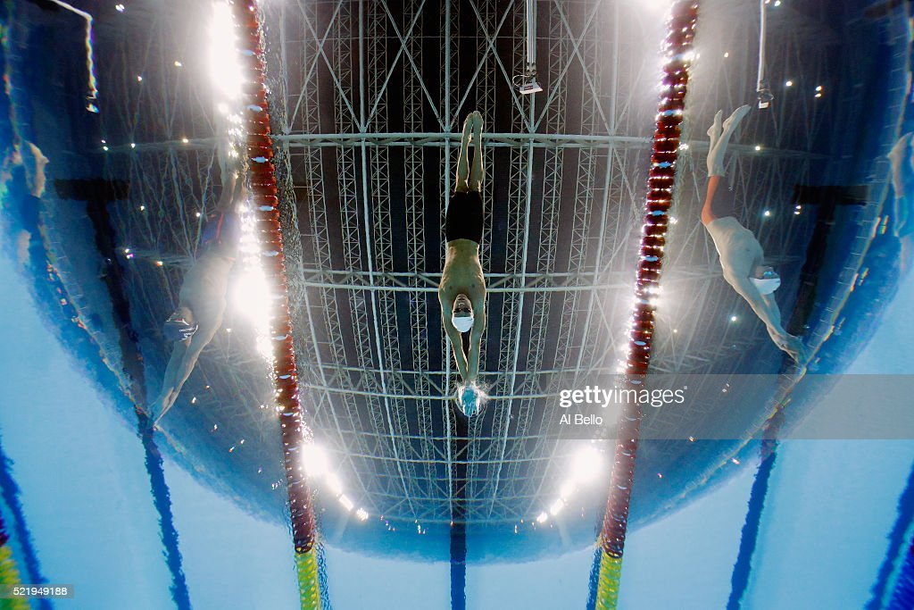 Matheus Gonche of Brazil starts the Mens 200m Butterfly B Finals during the Maria Lenk Trophy competition at the Aquece Rio Test Event for the Rio 2016 Olympics at the Olympic Park on April 17, 2016 in Rio de Janeiro, Brazil.