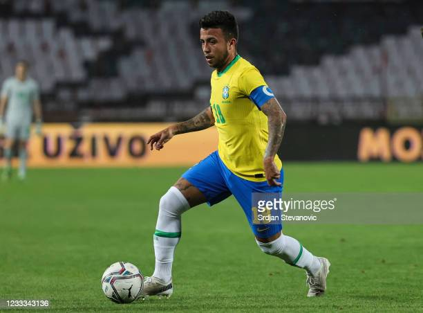 Matheus Henrique of Brazil in action during the International football friendly match between Serbia U21 and Brazil U23 at stadium Rajko Mitic on...