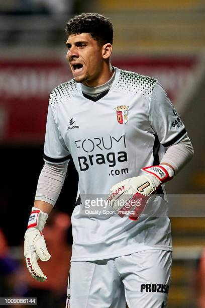 Matheus Magalhaes of SC Braga reacts during the Preseason friendly match between Sporting Braga and Celta de Vigo at the Estadio AXA on July 27 2018...