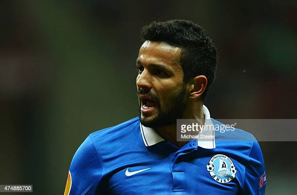 Matheus of Dnipro gives instructions during the UEFA Europa League Final match between FC Dnipro Dnipropetrovsk and FC Sevilla on May 27 2015 in...