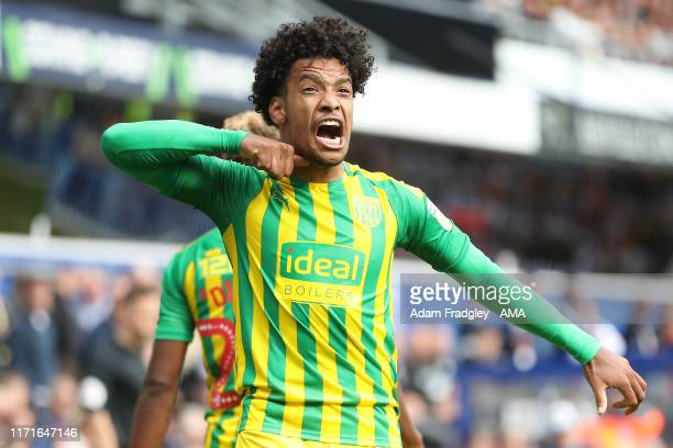 Matheus Pereira of West Bromwich Albion celebrates after scoring a goal to make it 0-2 during the Sky Bet Championship match between Queens Park...