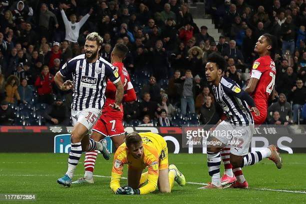 Matheus Pereira of West Bromwich Albion celebrates after scoring a goal to make it 22 during the Sky Bet Championship match between West Bromwich...