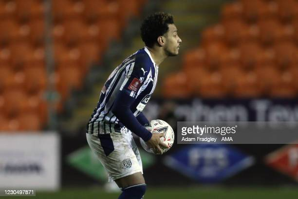 Matheus Pereira of West Bromwich Albion celebrates after scoring a goal to make it 2-2 from a penalty kick during the FA Cup Third Round match...