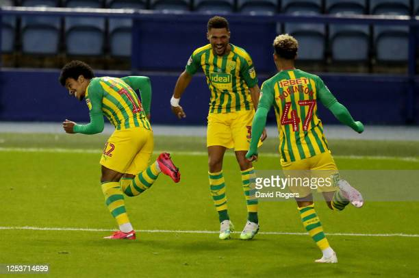 Matheus Pereira of West Bromwich Albion celebrates after scoring his team 2nd goal during the Sky Bet Championship match between Sheffield Wednesday...